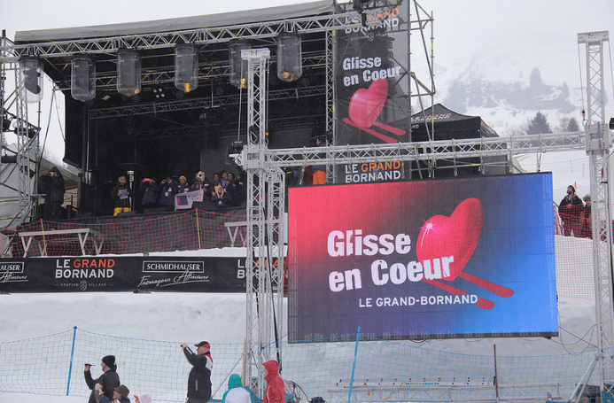 Outdoor LED display - Grand Bornand