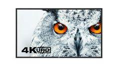 """Ecran 4K UHD - 28"""" à 98"""" Image"""