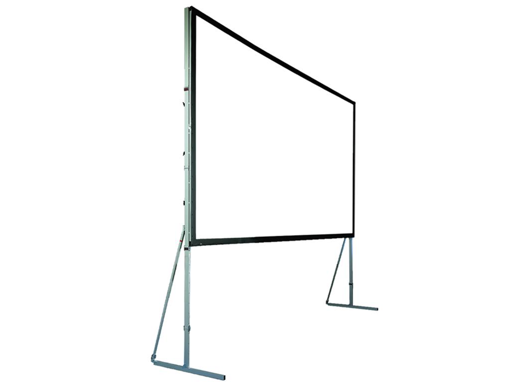 Écran de projection sur cadre 4:3 ou 16:9, base: 2, 3, 4, 5, 6 m avec toile rétro ou face Image