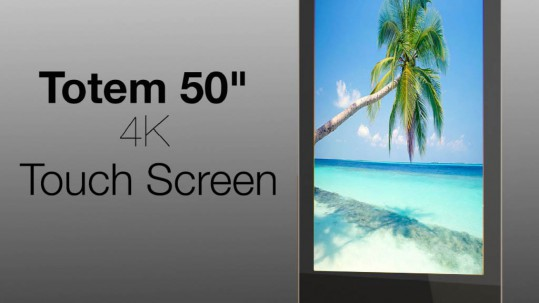 totem 50inches 4K touchscreen