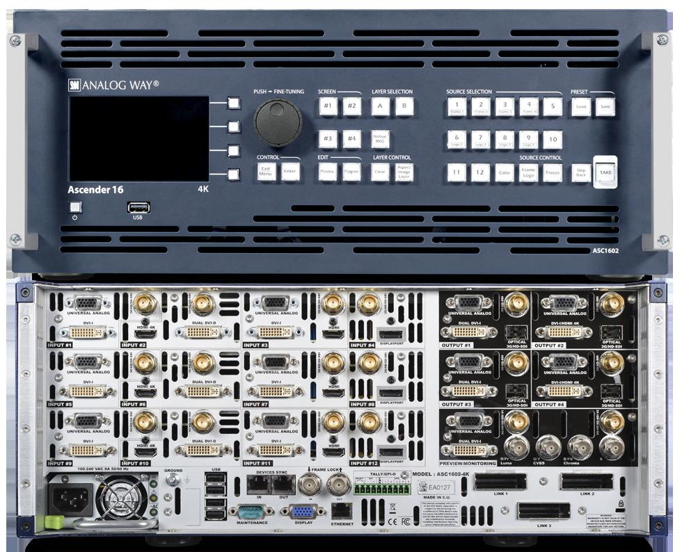 Ascender 16 4K - Analogway Image