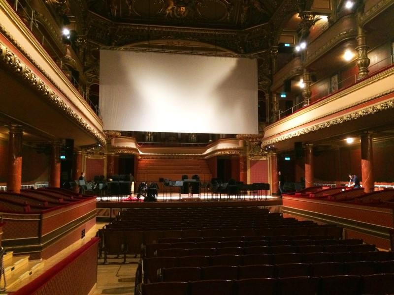 Victoria Hall scene projection